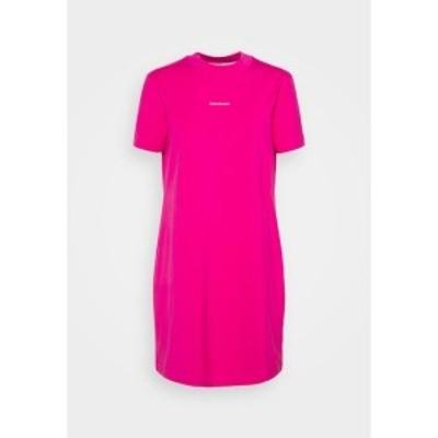 カルバンクライン レディース ワンピース トップス MICRO BRANDING DRESS - Jersey dress - party pink party pink
