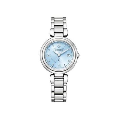 シチズン 腕時計 クロスシー mizu collection エコ・ドライブ電波時計 Titania Happy Flight (水色)