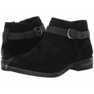 Clarks クラークス レディース 女性用 シューズ 靴 ブーツ アンクル ショートブーツ Demi Tone Black Suede【送料無料】
