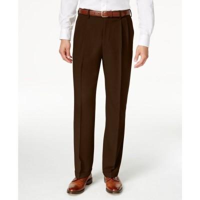 ハガー メンズ カジュアルパンツ ボトムス Men's ECLO Stria Classic Fit Pleated Hidden Expandable Waistband Dress Pants