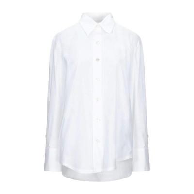 GUGLIELMINOTTI 無地シャツ&ブラウス  レディースファッション  トップス  シャツ、ブラウス  長袖 ホワイト
