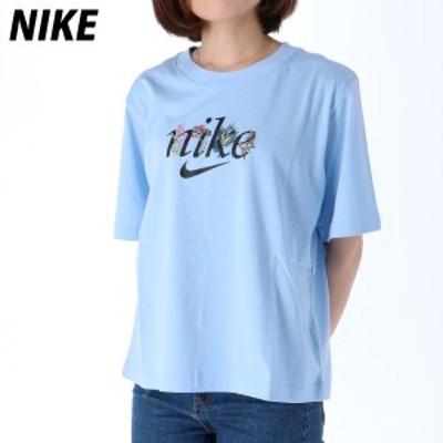 ナイキ Tシャツ 上 レディース NIKE ビッグロゴ ボックスシルエット 半袖 DD1457 BLU 送料無料 21SS