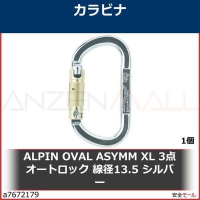 ALPIN OVAL ASYMM XL 3点オートロック 線径13.5 シルバー TP35AK3 1個