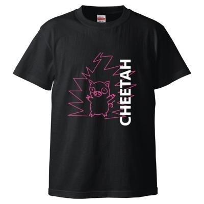 【まいぜんシスターズ】Tシャツ_CHEETAH(ブラック)(カラー : ブラック, サイズ : S)