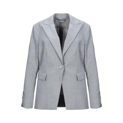 PAOLA PRATA テーラードジャケット ライトグレー 42 ポリエステル 54% / バージンウール 44% / ポリウレタン 2% テーラー