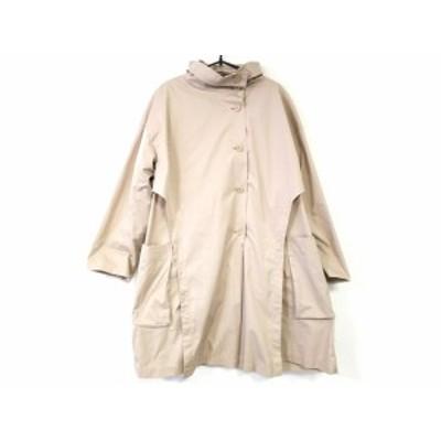 ヒロココシノ HIROKO KOSHINO コート サイズ40 M レディース 美品 ベージュ 冬物【中古】20201112