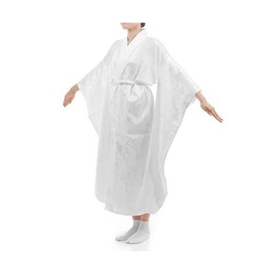 [ハセガワ] お仕立て上がり 振袖用 長襦袢 白 掛け衿付き 特典で衿芯2本付き (白 2L)