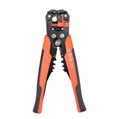uxcell ワイヤーストリッパー 自動調整ケーブルカッタークリンパー ペンチツール オレンジ