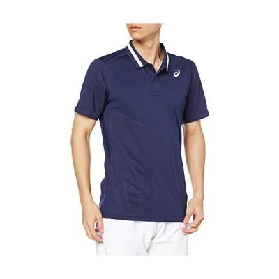 [アシックス] テニスウエア CLUB 半袖ポロシャツ 2041A086 メンズ ピーコート/ピーコート EU L (日本サイズXL相当)