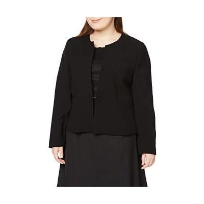 [セシール] ブラックフォーマル プランプ 大きいサイズ ジャケット 胸当て・リボン・ボタン付き レディース ?