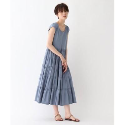 AG by aquagirl/エージー バイ アクアガール 【洗える】インドコットンティアードワンピース サックス(090) 36(S)