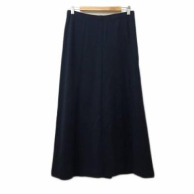 【中古】エディーバウアー EDDIE BAUER スカート フレア ロング ウエストゴム M/M 紺 ネイビー レディース