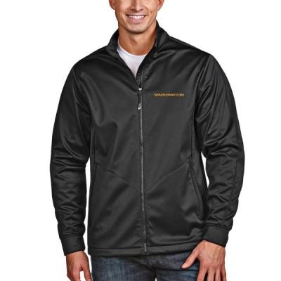 """メンズ ジャケット """"Washington Football Team"""" Antigua Full-Zip Golf Jacket - Black"""