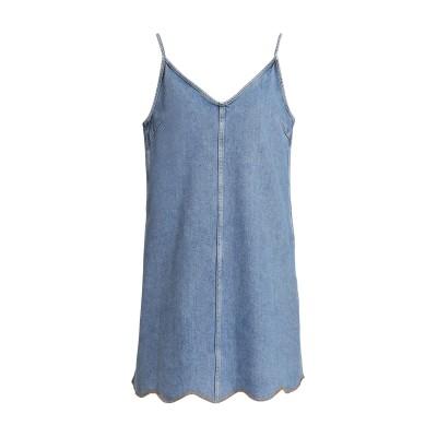 M.I.H JEANS ミニワンピース&ドレス ブルー L コットン 100% ミニワンピース&ドレス