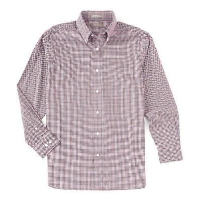 ダニエル クレミュ メンズ シャツ トップス Daniel Cremieux Signature Basketweave Check Multi-Color Long-Sleeve Woven Shirt