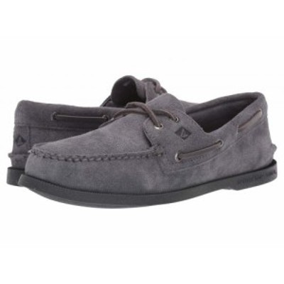 Sperry スペリー メンズ 男性用 シューズ 靴 ボートシューズ A/O 2-Eye Suede Grey 3【送料無料】
