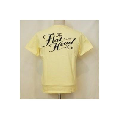 THC-168-ライトイエロー-TFH&CO-THC168-FLATHEAD-フラットヘッドTシャツ