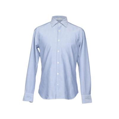 NEW ENGLAND シャツ スカイブルー 45 コットン 100% シャツ