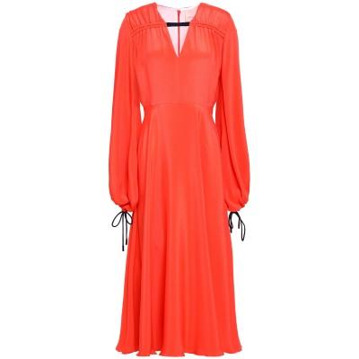 ROKSANDA 7分丈ワンピース・ドレス オレンジ 6 シルク 100% 7分丈ワンピース・ドレス