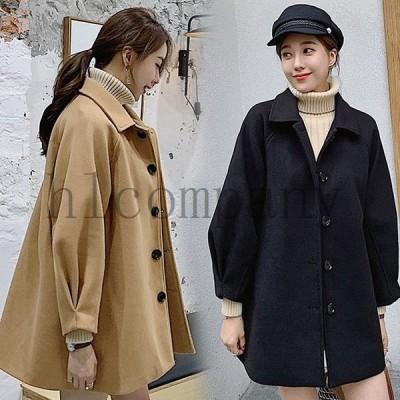韓国風レディースチェスターコートテーラードコートジャケットロングゆったりオフィス通勤秋冬30代40代50代きれいめ