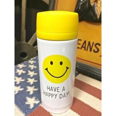 アメリカン雑貨★スマイル グッズ ランチグッズ お弁当 ステンレスボトル 水筒 HAVE A HAPPY DAY-OT0028
