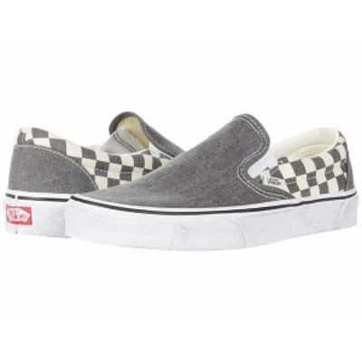 バンズ メンズ スニーカー シューズ Classic Slip-On¢ (Washed) Asphalt/True White