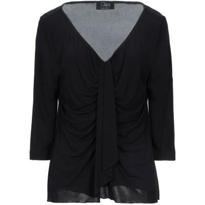 CLIPS T シャツ ブラック L レーヨン 72% / ポリエステル 28% T シャツ