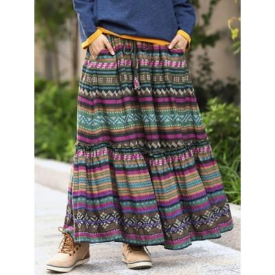 【大きいサイズ】【3-5L】【15号】セミノールライク ロングスカート 大きいサイズ レディース 大きいサイズ スカート レディース