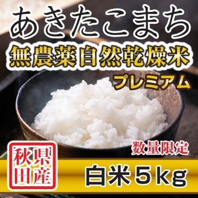 令和2年産米 秋田県産 あきたこまち 無農薬自然乾燥プレミアム 白米 5kg 農家直送