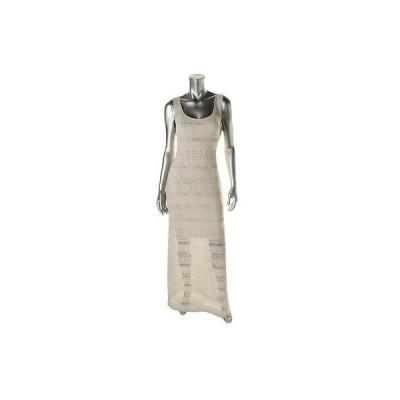 ドレス 女性  ゲス Guess 0214 レディース Mariana アイボリー Crochet Slit Partially Lined Maxi ドレス 8