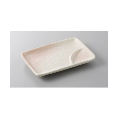 仕切皿 桜志野6.0仕切皿 [18 x 12.3cm]  料亭 旅館 和食器 飲食店 業務用