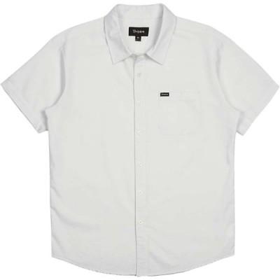 ブリクストン Brixton メンズ 半袖シャツ トップス charter oxford ss shirt Off White