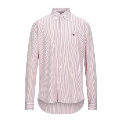 ヘンリー コットンズ HENRY COTTON'S シャツ レッド L コットン 100% シャツ