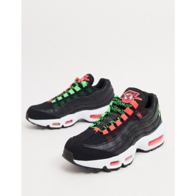 ナイキ Nike レディース スニーカー エアマックス 95 シューズ・靴 Air Max 95 Trainers In Black And Green