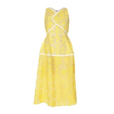 ローラン ムレ ROLAND MOURET 7分丈ワンピース・ドレス イエロー 8 コットン 77% / シルク 23% 7分丈ワンピース・ドレス