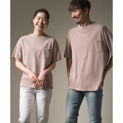 tシャツ Tシャツ ユニセックス 製品洗い ポケット付無地半袖Tシャツ