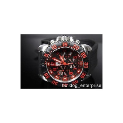 腕時計 インヴィクタ Mens Luminox A.3195 Colormark Navy Seal Black Red Swiss Chronograph Watch New
