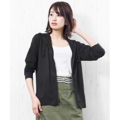 (mili an deni/ミリアンデニ)レディース パーカー UVカット 長袖 トップス 紫外線 日焼け対策/レディース ブラック