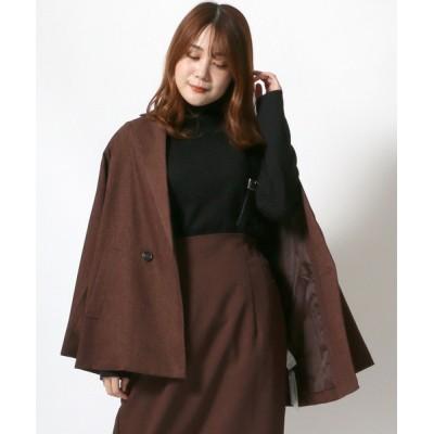 Salong hameu / 無地/先染めチェック/テーラードジャケット/ダブルジャケット WOMEN ジャケット/アウター > テーラードジャケット