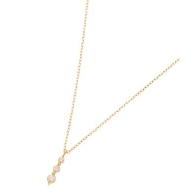 COCOSHNIK(ココシュニック) ダイヤモンド 伏せ込みトリロジー ネックレス