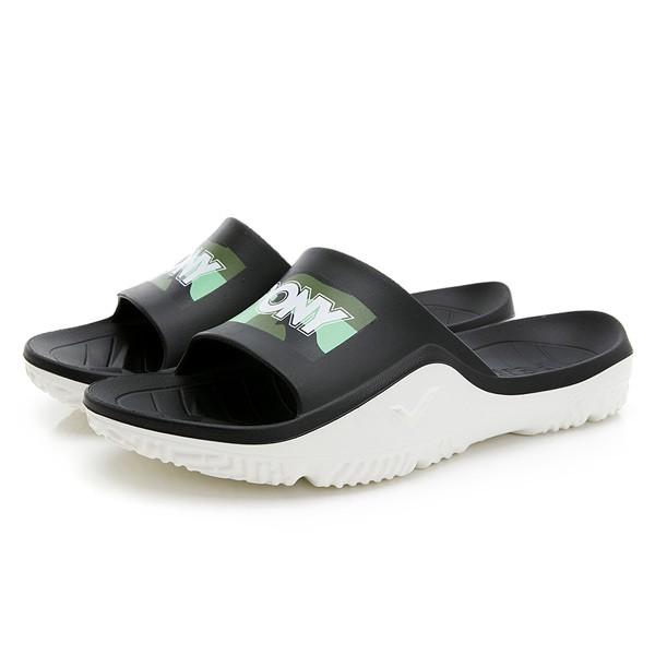 PONY 【02U1FL03GN】PARK-X 拖鞋 休閒 軟Q 止滑 厚底 黑綠迷彩 男女尺寸