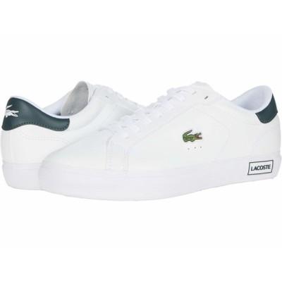 ラコステ スニーカー シューズ メンズ Powercourt 0520 1 White/Dark Grey Green