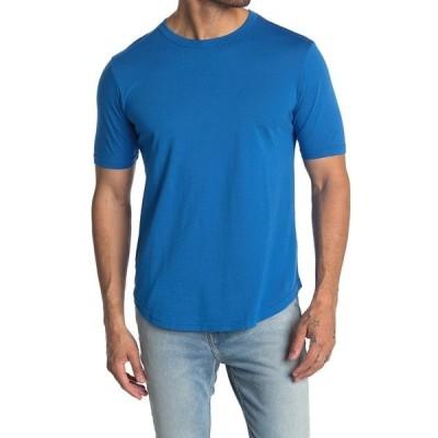 グッドライフ メンズ Tシャツ トップス Crew Neck Curve Hem T-Shirt STRONG BLUE