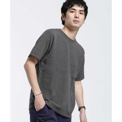 【ナノ・ユニバース】ブレンドカラーWジャガードTシャツ