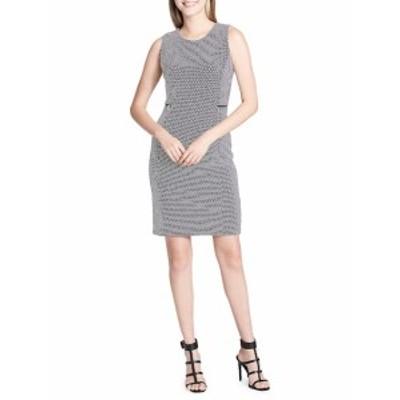 カルバンクライン レディース ワンピース Sleeveless Polka-Dot Sheath Dress