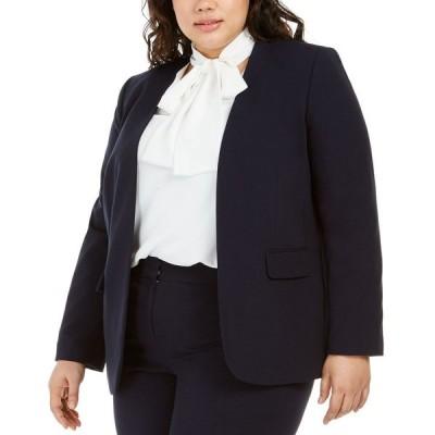 バースリー Bar III レディース スーツ・ジャケット 大きいサイズ アウター Trendy Plus Size Open-Front Blazer Navy