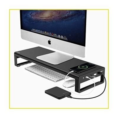 送料無料 モニター スタンド アルミモニタースタンド USB3.0ハブ4つ付き