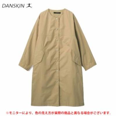 【在庫処分品】DANSKIN(ダンスキン)オールウェザーコート(DC39309)ジャケット カジュアル 長袖 撥水 ノーカラー レディース