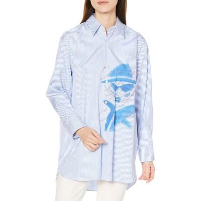 [ランバンオンブルー] シャツブラウス Yuko SaekiコラボFACEシャツ 3046610 レディース ブルー 38