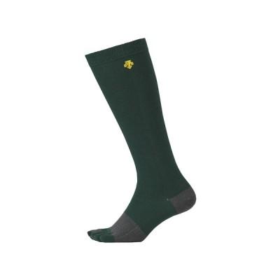 デサント DESCENTE 5本指カラーソックス メンズ グリーン 緑 野球 ソックス 靴下 アンダーソックス C8701-DGRN